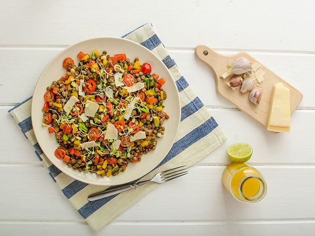 Lentil Salad with Tomatoes and Peppers