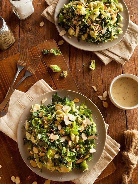 Salade de choux de Bruxelles et kale
