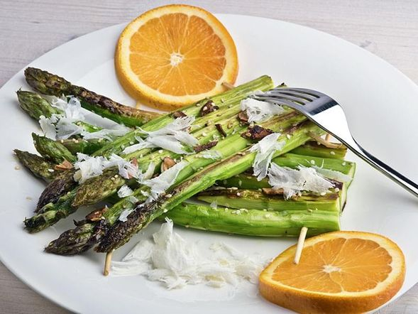 Roasted Asparagus with Orange
