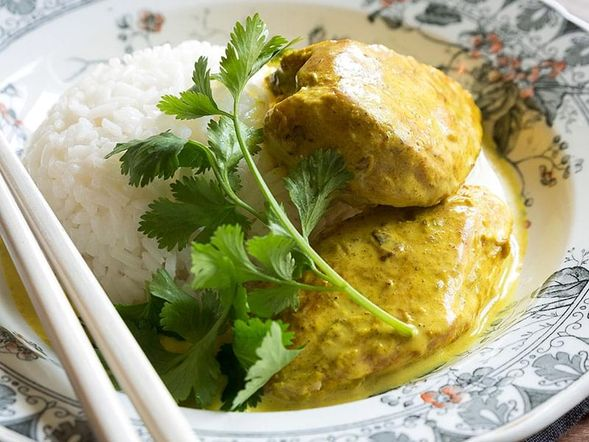 Grilled Chicken in Coconut Milk with Spices