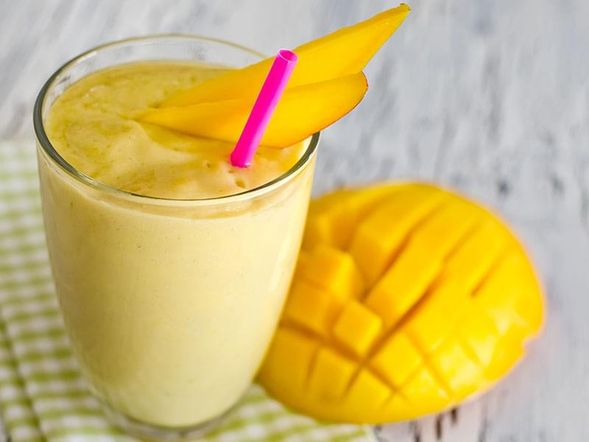 Mousse di mango e yogurt