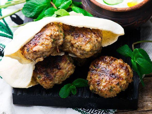 """Chicken """"Kafta"""" Kebabs"""