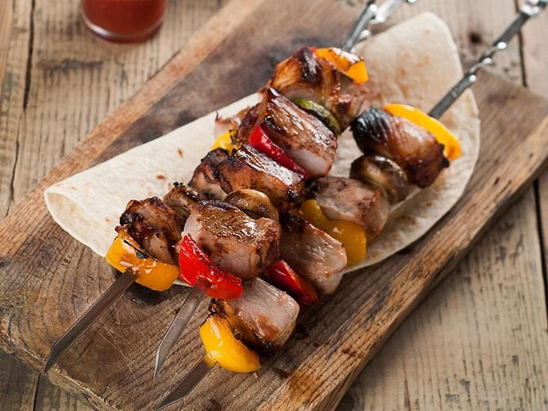 Veal and Vegetable Kebabs