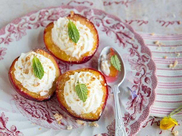 Peaches with Marzipan