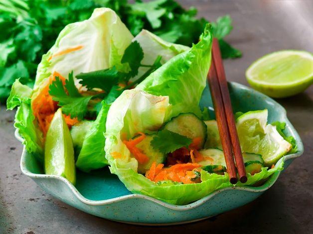 Salade de concombres et carottes à la Thaï