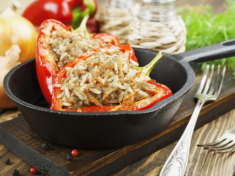 Beef-Stuffed Peppers