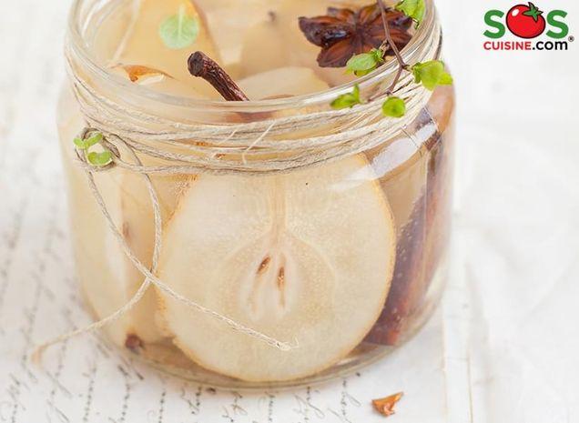Compote de poires au sirop d'érable et aux épices