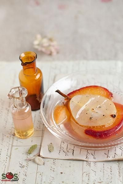 Plum and Pear Compote with Honey