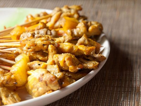 Pork and Pineapple Satay