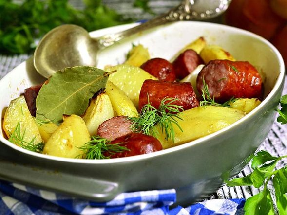 Baked Sausage with Vegetables