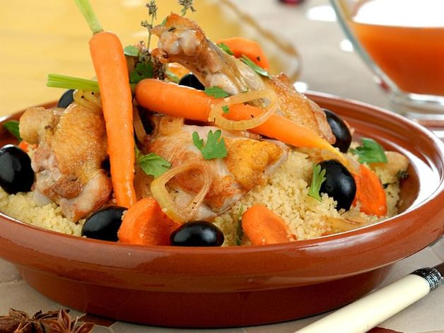 Pollo e verdure alla marocchina