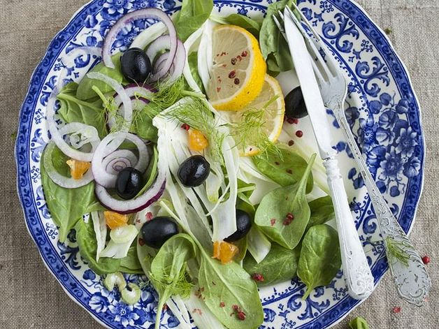 Fennel and Spinach Salad