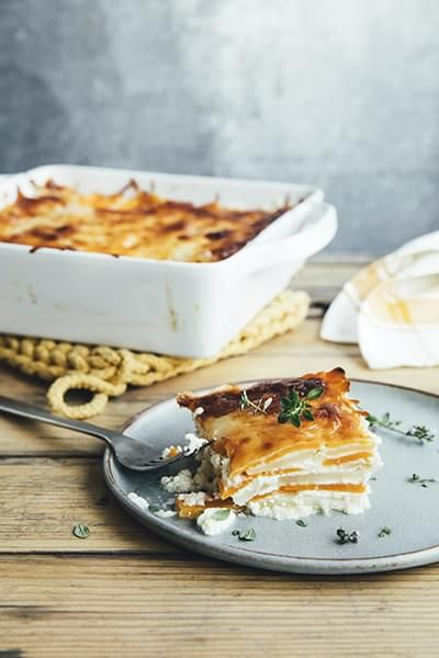 Cheese-Topped Carrots and Parsnips
