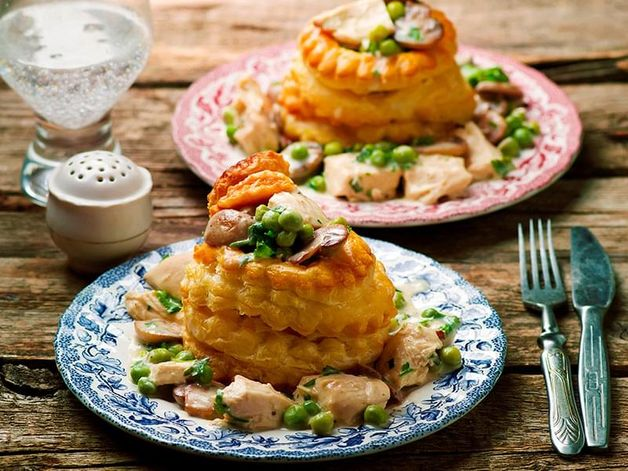 Chicken in a Puff Pastry Shell
