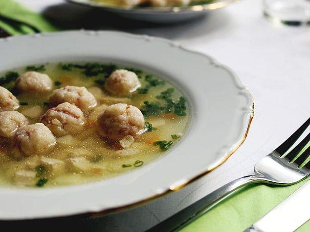 Soupe à la scarole et boulettes de dinde