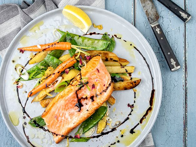 Grilled Trout in a Balsamic Reduction