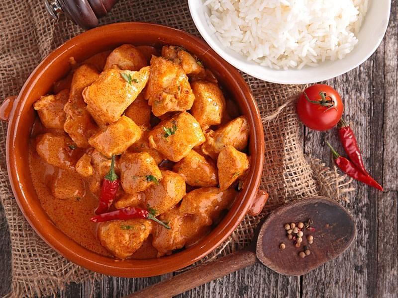 Pollo arrosto al curry