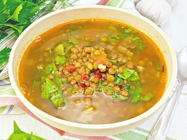 Curried Lentil and Spinach Soup