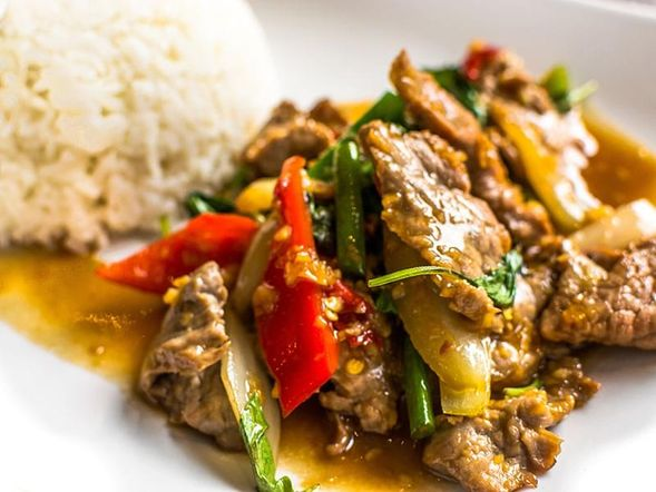 Basil-flavoured Chicken and Pepper Stir-Fry