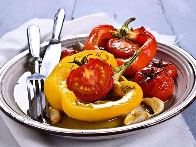 Tomato-Stuffed Peppers