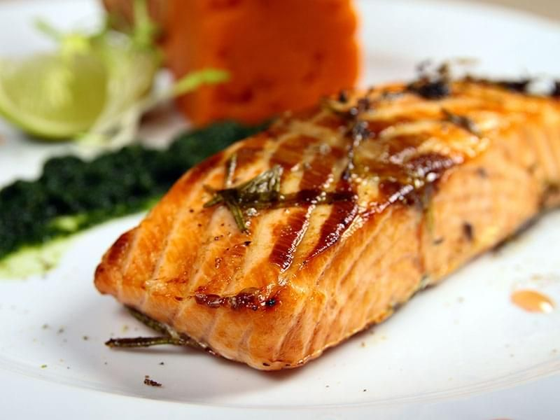 Grilled Salmon with Honey
