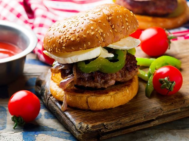 Chicken Sausage Burger